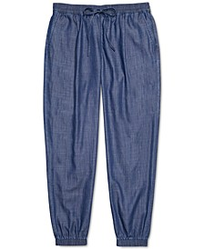 Women's Jogger Pants with One Handed Drawstring