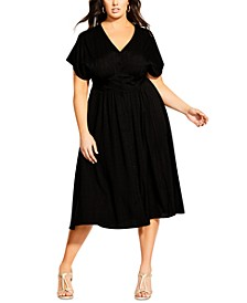 Trendy Plus Size Tie Wonder Dress