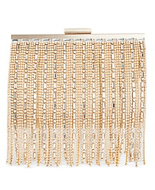 INC Alexa Gemstone Fringe Clutch, Created for Macy's