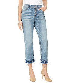 INC Curvy Double-Hem Ankle Jeans, Created for Macy's