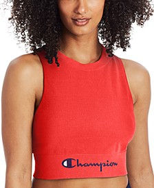 Women's Double Dry Sweatshirt Cropped Tank Top