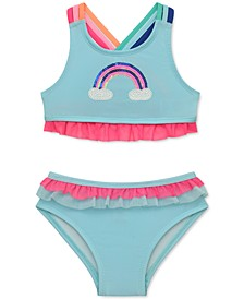 Baby Girls Sequin Rainbow Two-Piece Swimsuit