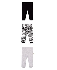 Baby Boys and Girls Legging Set, 3 Pack