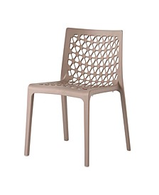 Milan Stackable Patio Dining Chair, Set of 4