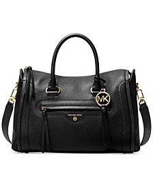 Carine Leather Medium Satchel