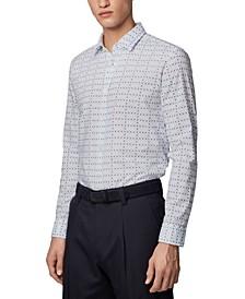 BOSS Men's Ronni_53 Light Pastel Blue Shirt