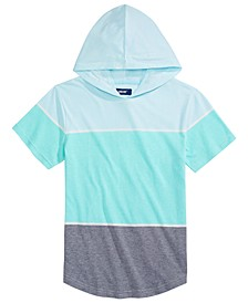 Big Boys Main Textured Colorblocked Hooded T-Shirt