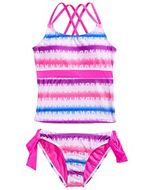 Big Girls 2-Pc. Printed Strappy-Back Tankini