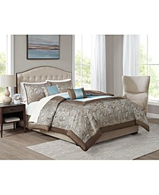 CLOSEOUT! Brystol Blue King 9-Pc. Comforter set