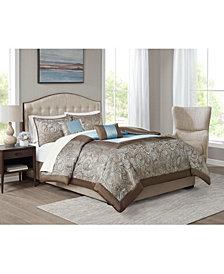 CLOSEOUT! Brystol Blue California King 9-Pc. Comforter set