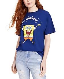 Juniors' Spongebob No Worries T-Shirt