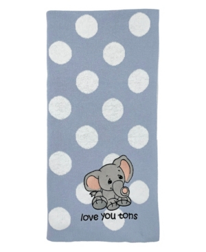 Precious Moments Baby Boys And Girls Jacquard Blanket In Blue
