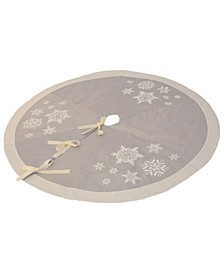 Glistening Snow Christmas Tree Skirt