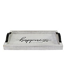 Stratton Home Decor Happiness Wood Tray