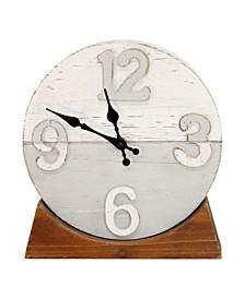 Stratton Home Decor Derrick Two Tone Wood Table Clock