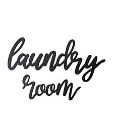 Stratton Home Decor Wood Laundry Room Script Wall Decor