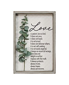 "Stratton Home Decor Love is Patient, Love is Kind Wall Art, 13.39"" x 19.69"""