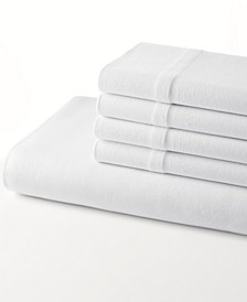Jersey Knit Solid Twin Fitted Sheet With Bonus Pillowcase Set
