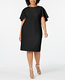 Plus Size Capelet Sheath Dress