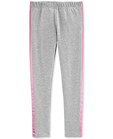 Little & Big Girls Gray Glitter-Stripe Leggings