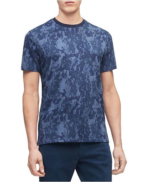 Calvin Klein Men's Short Sleeve Camo Floral Shirt