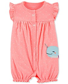 Baby Girls Narwhal Cotton Romper