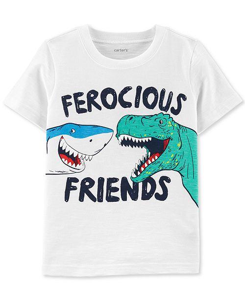 Carter's Toddler Boys Ferocious Friends-Print Cotton T-Shirt