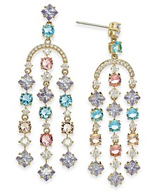 18k Gold-Plated Multi-Crystal Chandelier Earrings, Created for Macy's
