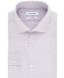 Calvin Klein Men's Slim-Fit Stretch Performance Micro-Check Dress Shirt