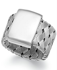 Sterling Silver Ring, Woven Ring