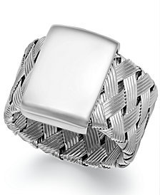 The Fifth Season by Roberto Coin Sterling Silver Ring, Woven Ring