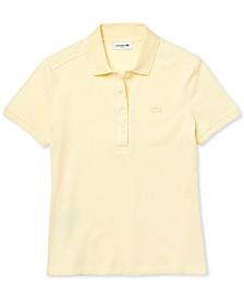 Women's Slim-Fit Short-Sleeve Stretch Piqué Polo Shirt