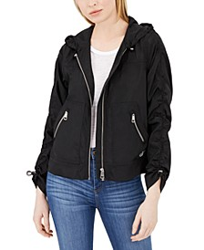 Water-Resistant Hooded Rain Jacket