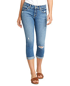 Silver Jeans Co. Elyse Distressed Cropped Jeans