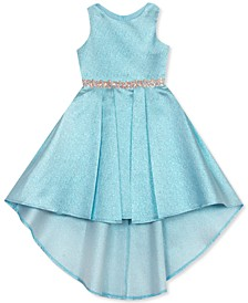 Little Girls Metallic High-Low Dress