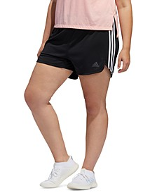 Plus Size Striped Shorts