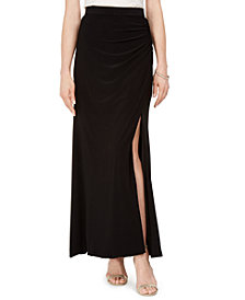 Adrianna Papell Ruched Maxi Skirt