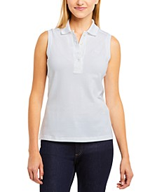 Sleeveless Polo Top