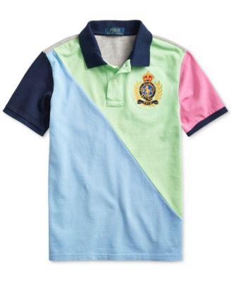 NEW Boys Polo Shirt Top Gray Blue Green Size 10//12