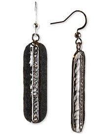 Silver-Tone Pavé Oval Drop Earrings, Created for Macy's