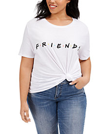 Love Tribe Trendy Plus Size Cotton Friends T-Shirt