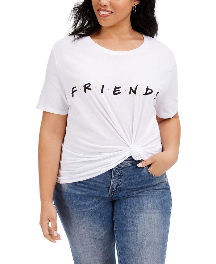 Love Tribe - Trendy Plus Size Cotton Friends T-Shirt