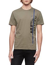 Men's Vertical Calvin Logo Graphic T-Shirt