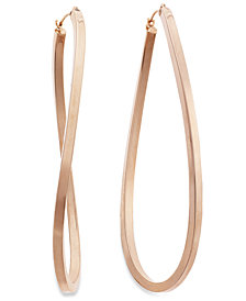 Figure 8 Hoop Earrings in 14k Rose Gold Vermeil, 60mm