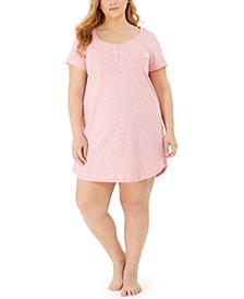 Plus Size Cotton Sleep Shirt Nightgown, Created for Macy's