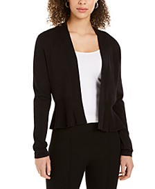 Open-Front Peplum Cardigan, Created for Macy's