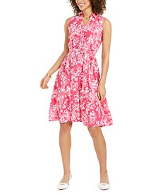Floral-Print Shirtdress, Created for Macy's