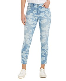 Printed Tummy-Control Skinny Jeans, Created for Macy's