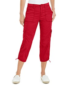 Petite Cargo Capri Pants, Created for Macy's
