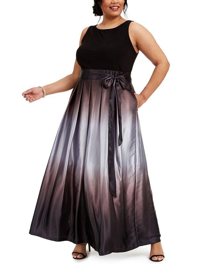 SL Fashions - Plus Size Ombre A-Line Gown